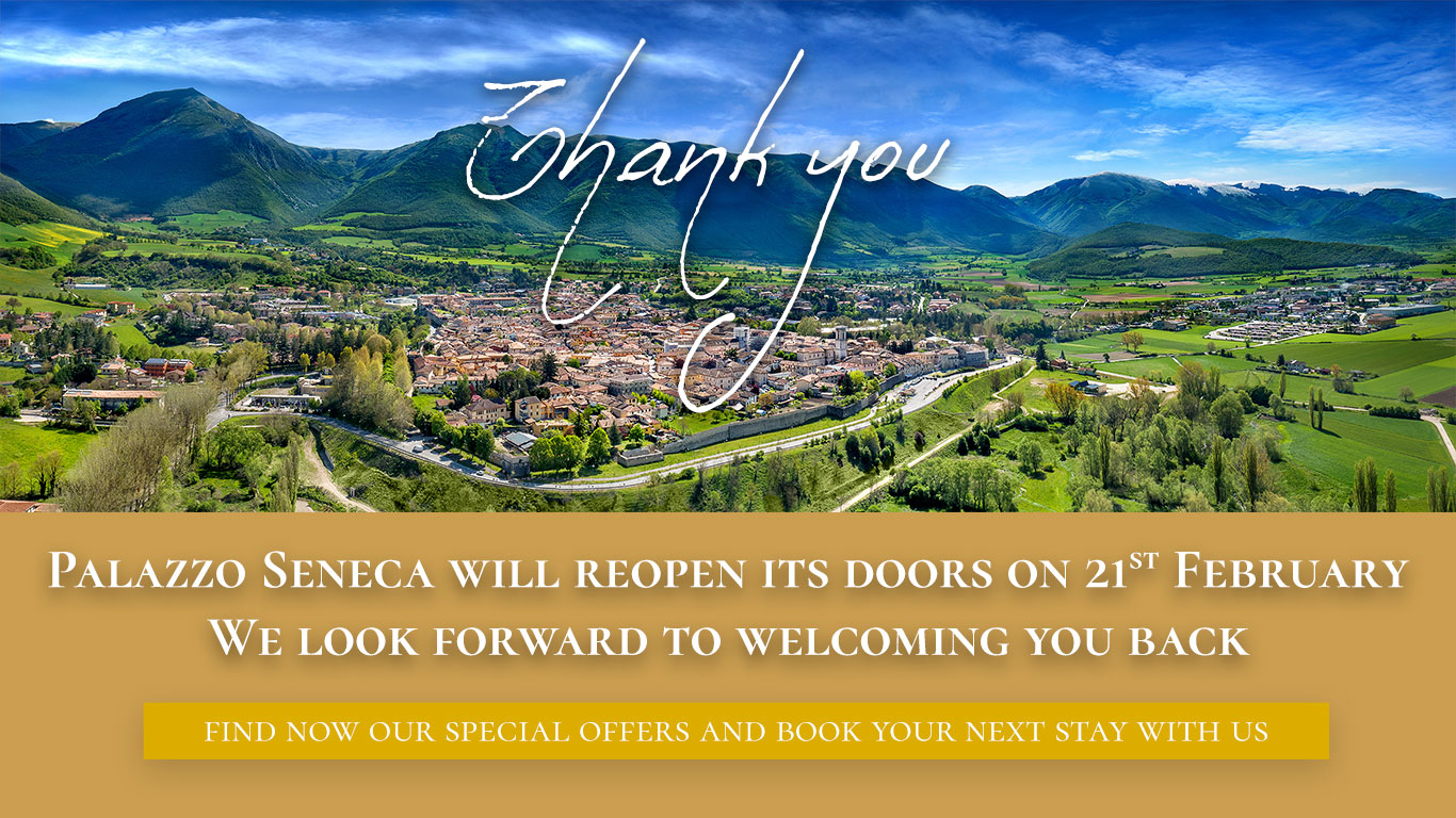 Palazzo Seneca will reopen its doors on 21st February. We look forward to welcoming you back